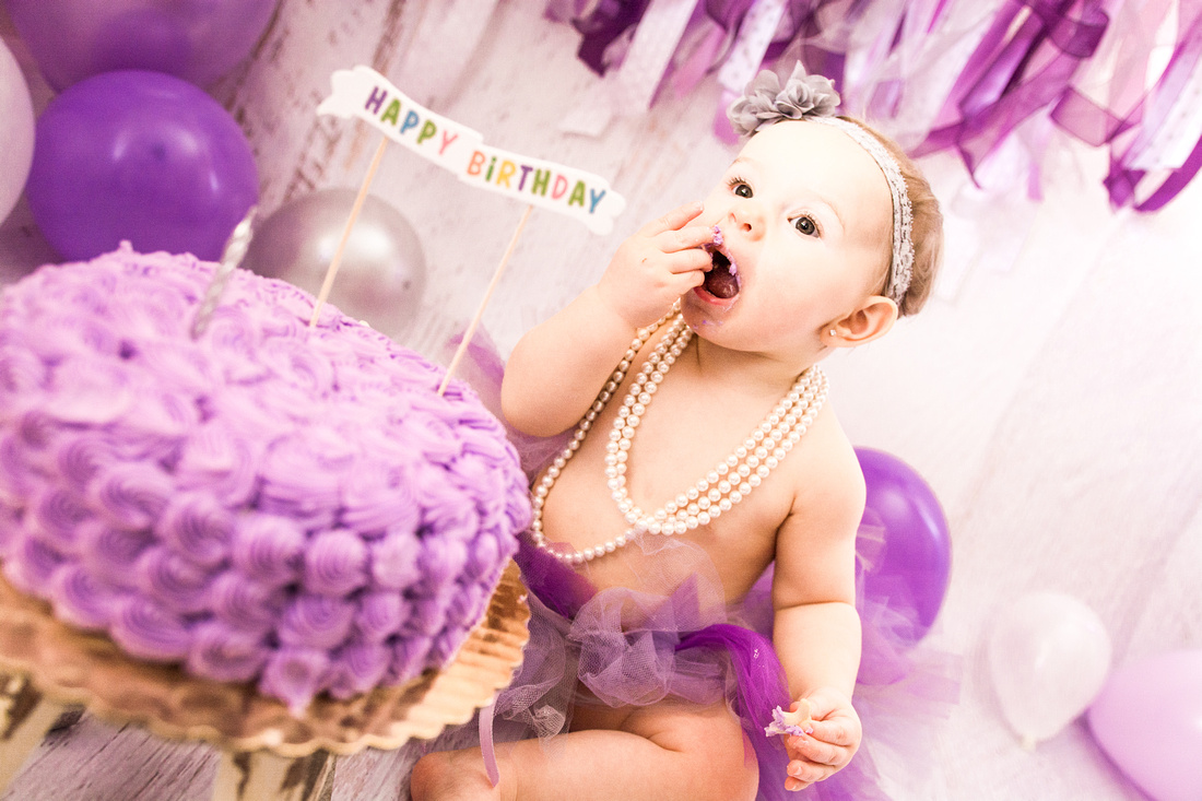 Purple First Birthday  | Hamilton NJ Photographer | Ashley Halas Photography