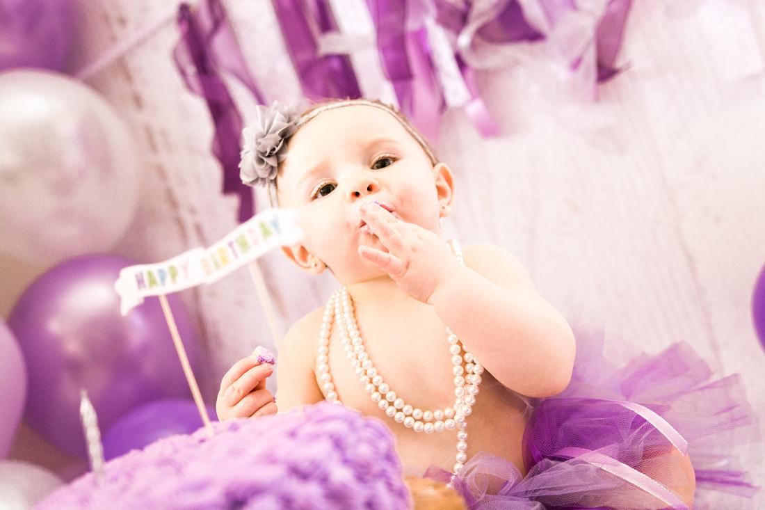 Purple First Birthday  | Hamilton NJ Photographer | Ashley Halas Photography
