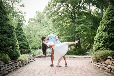 Romantic Picnic Engagement Session | Sayen Gardens | Ashley Halas Photography LLC Hamilton NJ Photographer