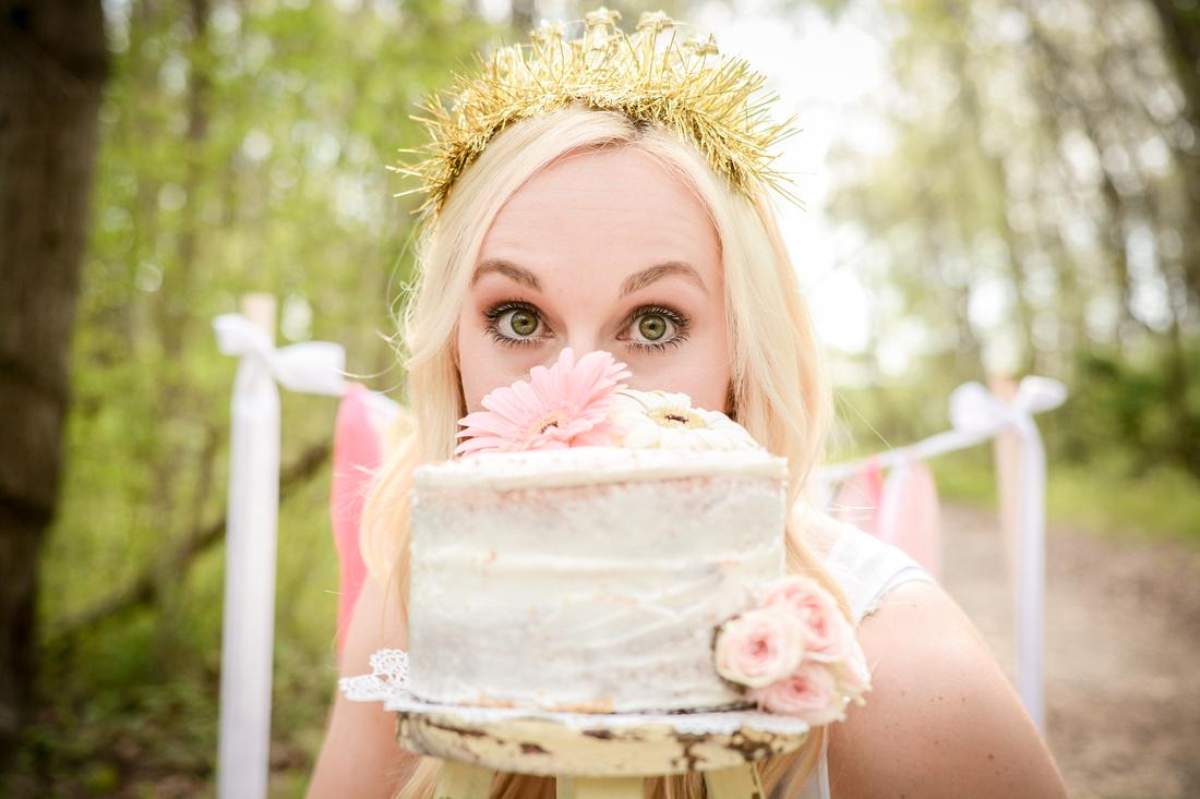 Adult Birthday Cake Smash Session Hamilton NJ Photographer