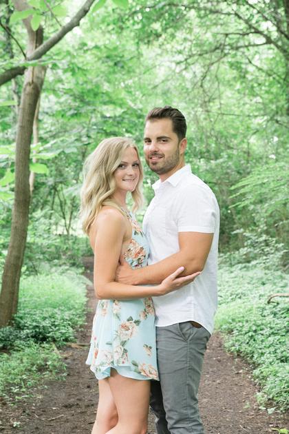 Engagement Session Sayen Gardens Hamilton New Jersey Ashley Halas Photography LLC
