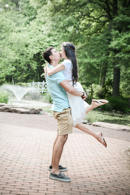 Romantic Picnic Engagement Session | Sayen Gardens | Ashley Halas Photography LLC Hamilton NJ Photographer