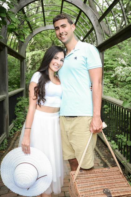 Romantic Picnic Engagement Session   Sayen Gardens   Ashley Halas Photography LLC Hamilton NJ Photographer