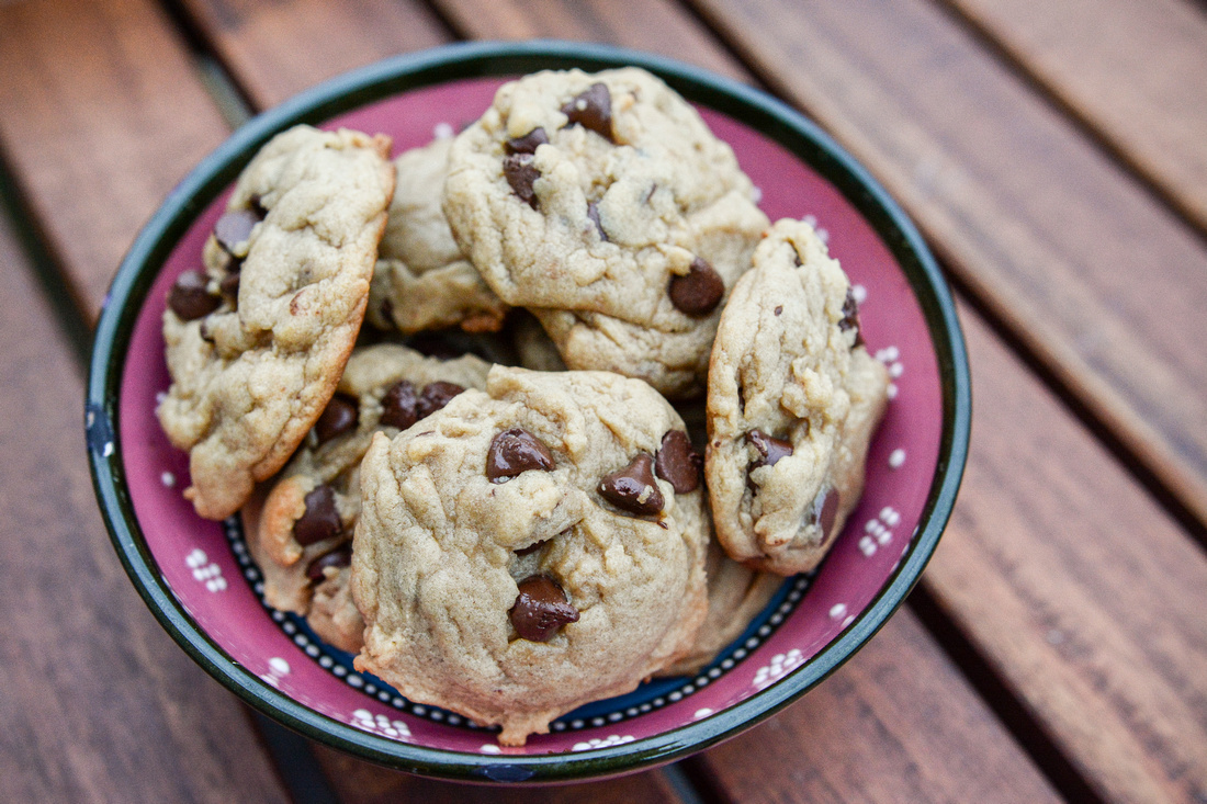 Soft & Chewy Simple Chocolate Chips Cookies | Food Photographer Ashley Halas Photography LLC | Hamilton New Jersey