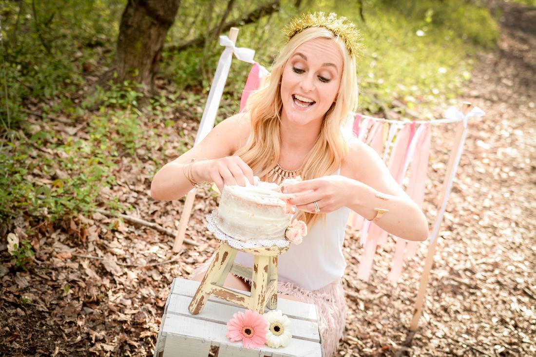 30th Birthday Adult Cake Smash Session Ashley Halas Photography LLC Hamilton NJ