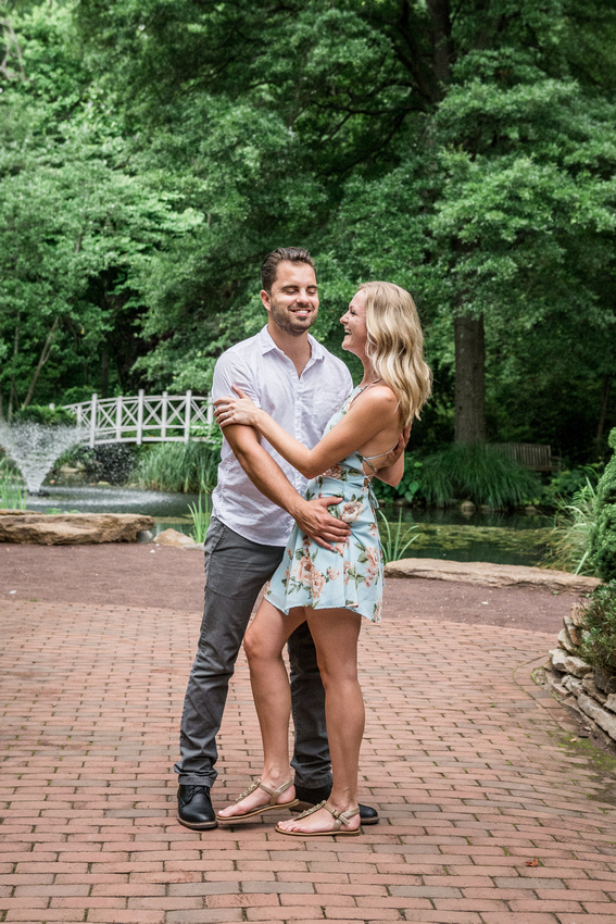 Engagement Session Sayen Gardens Hamilton New Jersey Ashley Halas Photography LLC