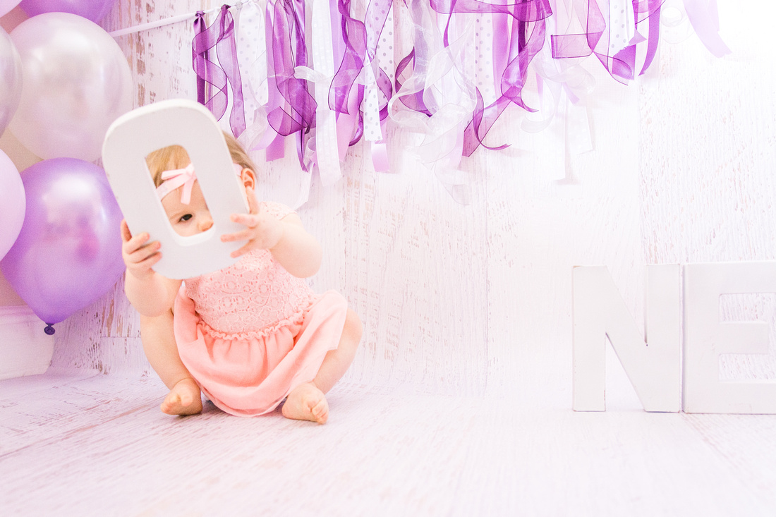 Pink & Purple First Birthday  | Hamilton NJ Photographer | Ashley Halas Photography